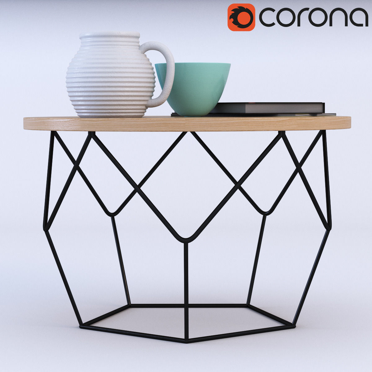 Beau ... West Elm Origami Coffee Table 3d Model Max Obj Fbx Mtl 2 ...