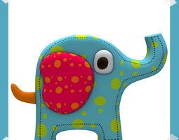 Cute Elephant 3D model