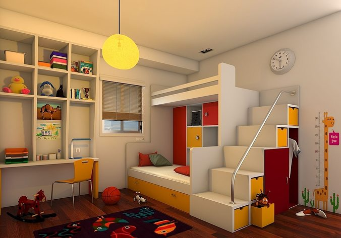 Kids Bedroom Model kids bedroom 3d | cgtrader