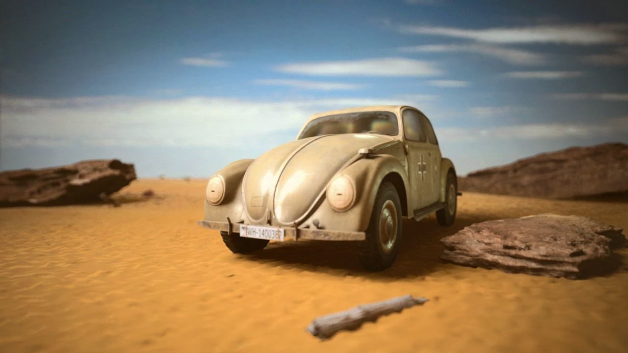 VW beetle Typ 87 Afrika Korps staff car WW2 Western desert