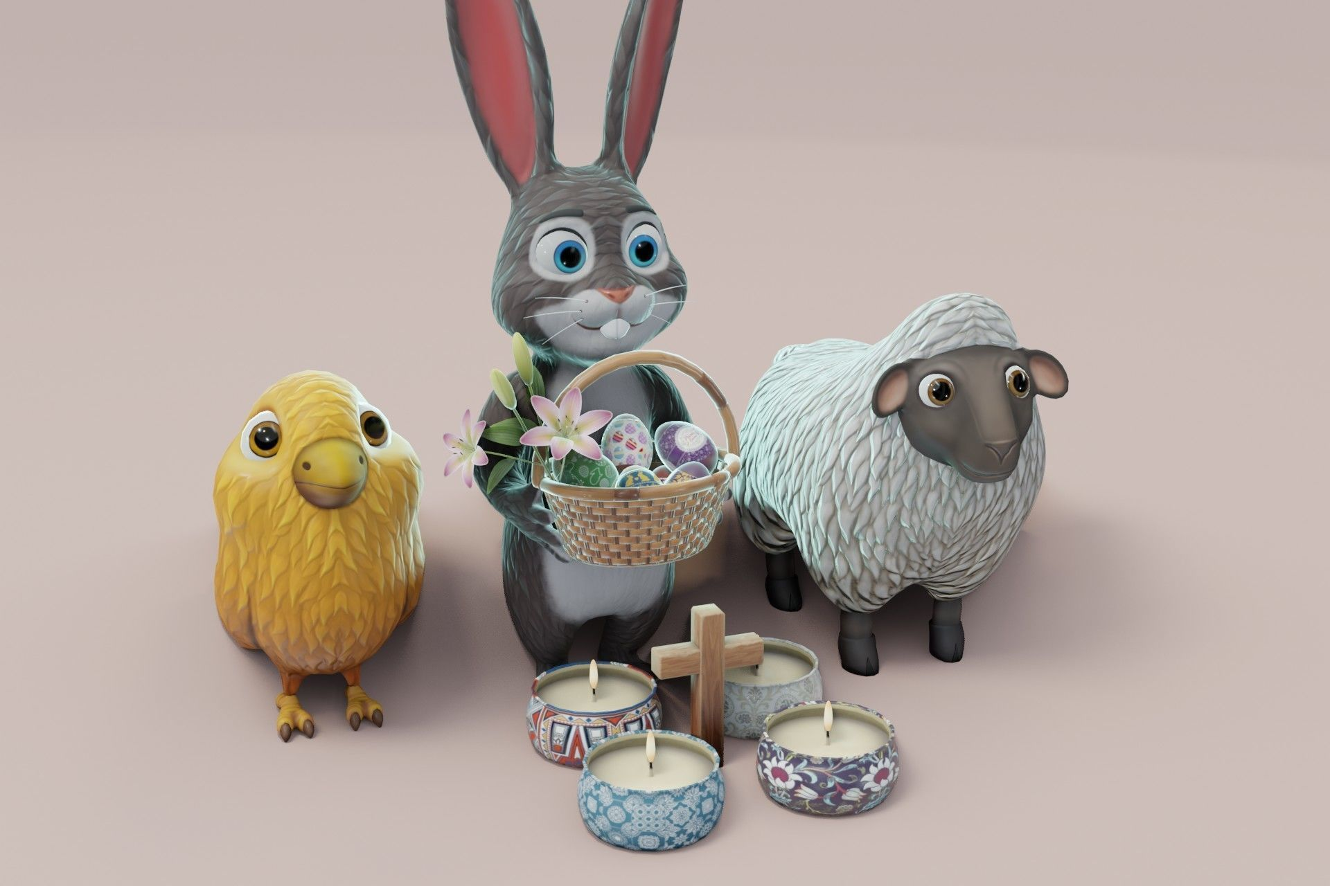 Easter 3D Model