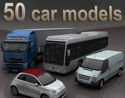 VR / AR ready cars mega pack 50 items 3D Models