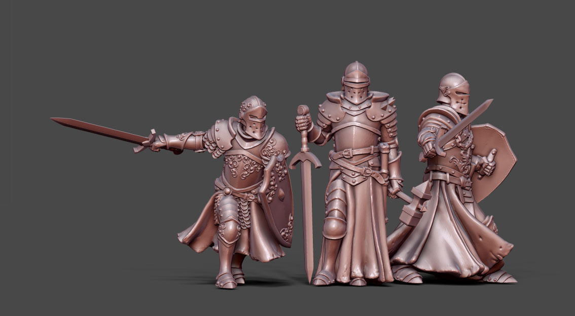 Knights bundle - 3 miniatures 35mm scale