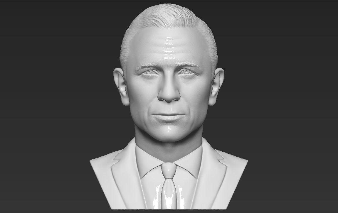 James Bond Daniel Craig bust 3D printing ready stl obj