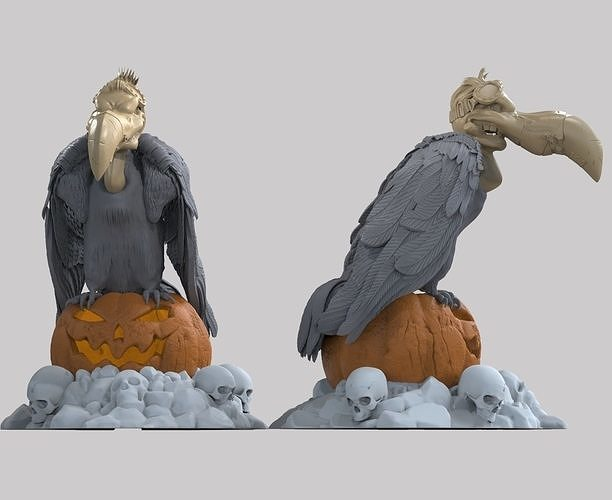vulture lantern figurine on Halloween