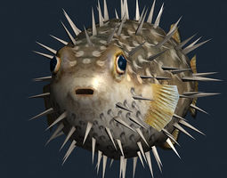 3DRT - Sealife -  Puffer fish 3D Model