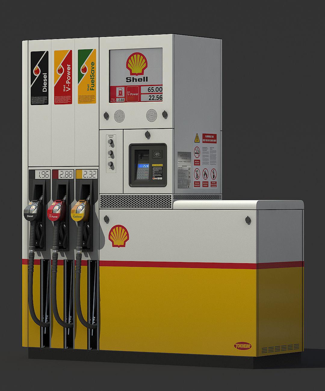 Fuel dispenser Shell Tokheim Quantium 510