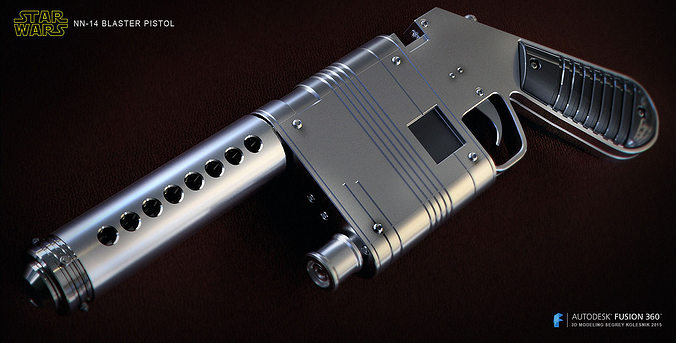 nn-14 blaster pistol 3d model stl 1
