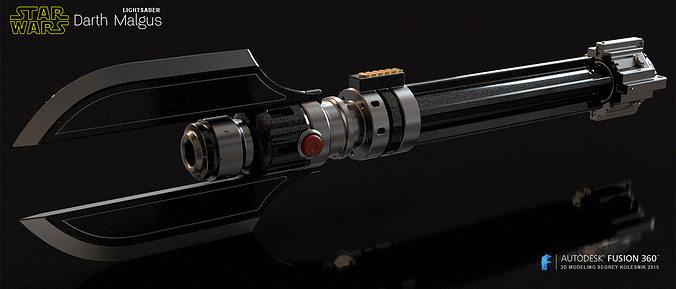 darth malgus lightsaber 3d model stl 1