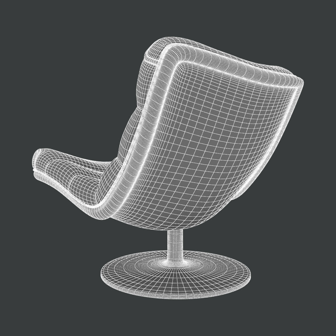 Artifort F978 Chair 3d Model Max Cgtrader Com