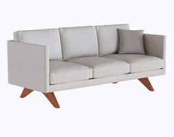 West elm Brooklyn Upholstered Sofa 3D