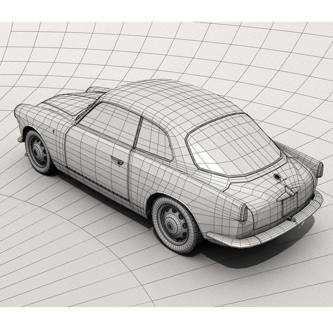 1958 Alfa Romeo Giulietta Sprint Veloce 3D Model MAX OBJ