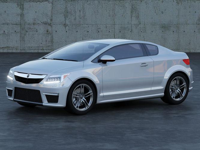 acura coupe concept a1 3d model max obj fbx mtl 1