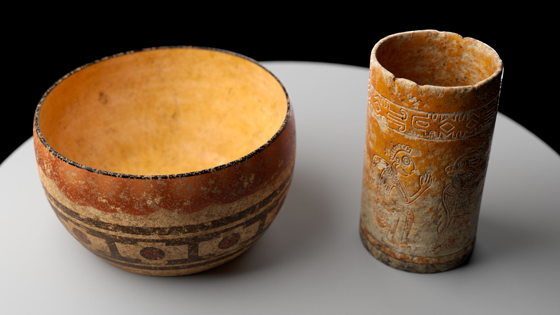 Ancient Clay Pots Low Poly PBR
