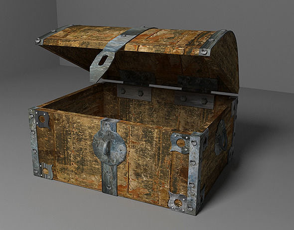 Old Chest 3d Cgtrader