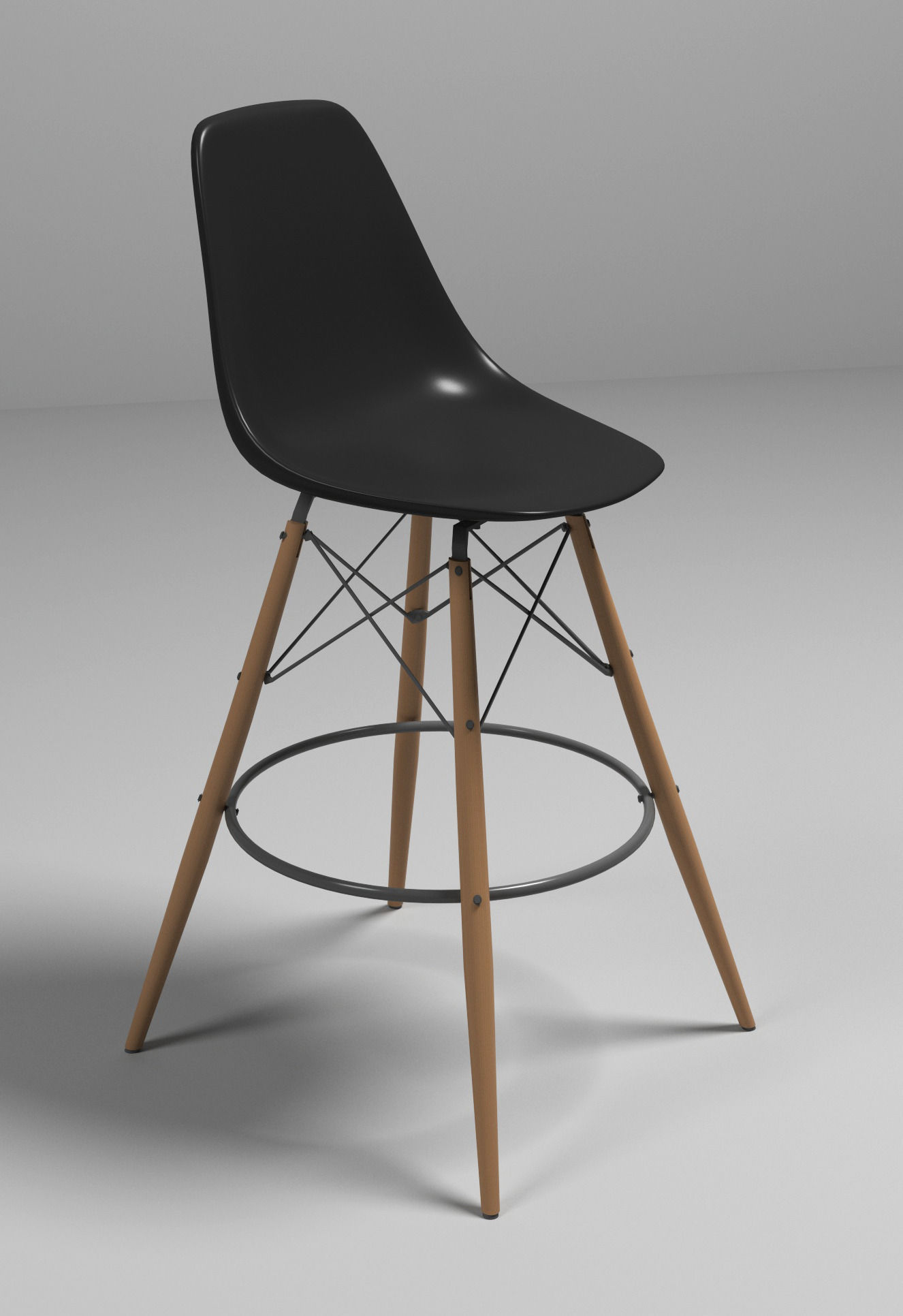 eames bar chair 3d model max obj 3ds fbx mtl 1 ... & 3D model Eames bar chair | CGTrader