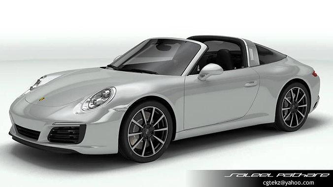 Porsche 911 Targa 2018 3d Model Gt Cgtrader