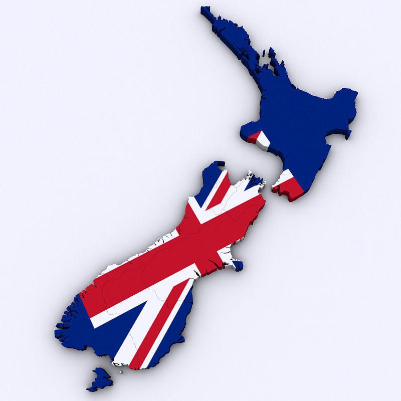 3d Map Of New Zealand.Map Of New Zealand 3d Model