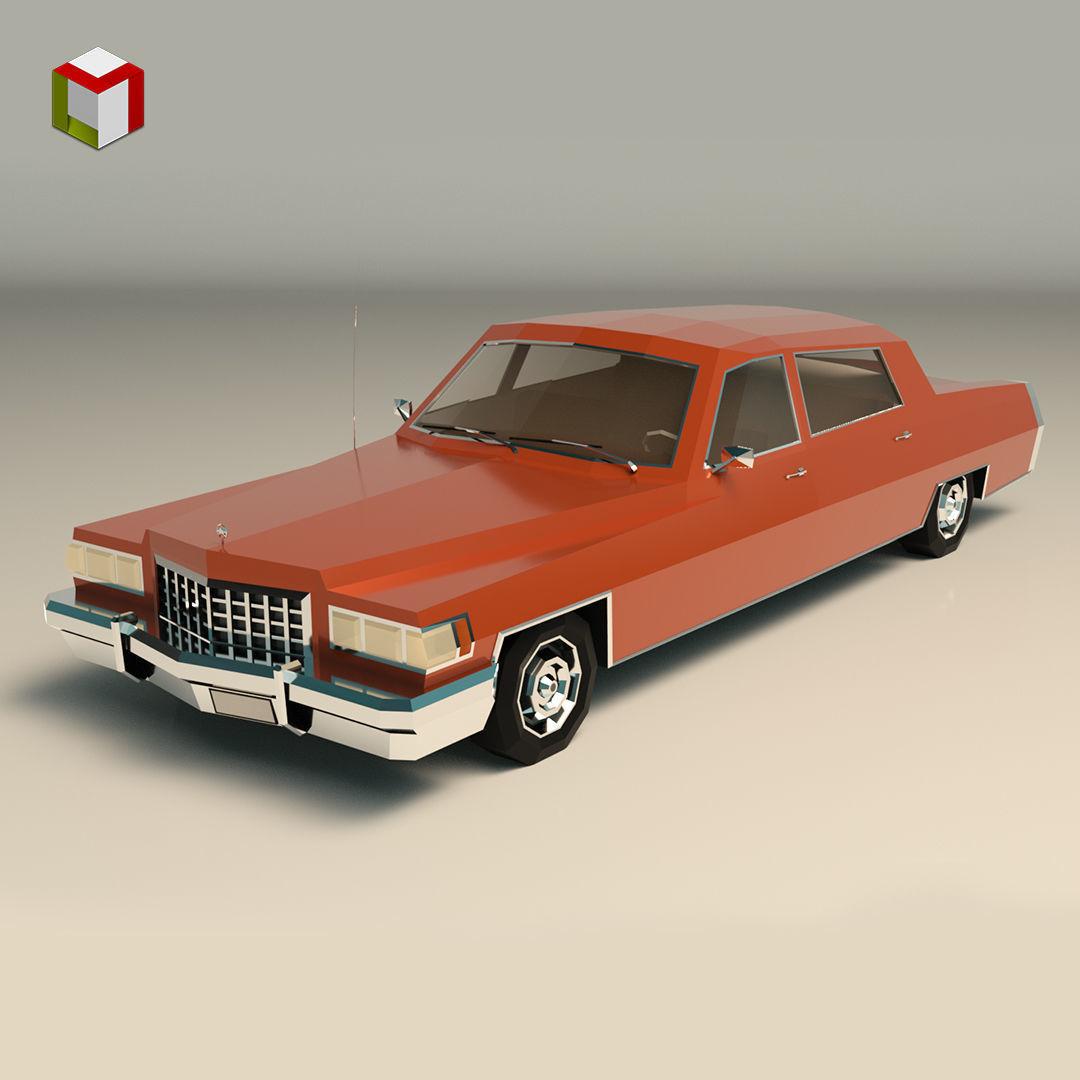 Low Poly Sedan Car 09