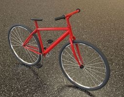 3d asset low-poly bicycle