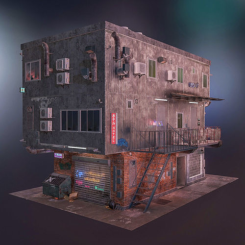 Cyberpunk house