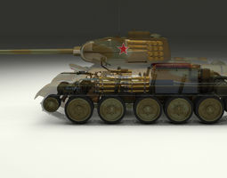T-34 85 Interior Engine Bay Full Camo 3D model