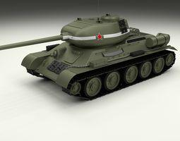 T-34 85 Tank 3D