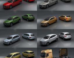15 - City cars models 3D asset