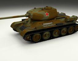 3D model T-34 85 Tank Camo