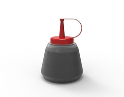 sauce bottle 3d