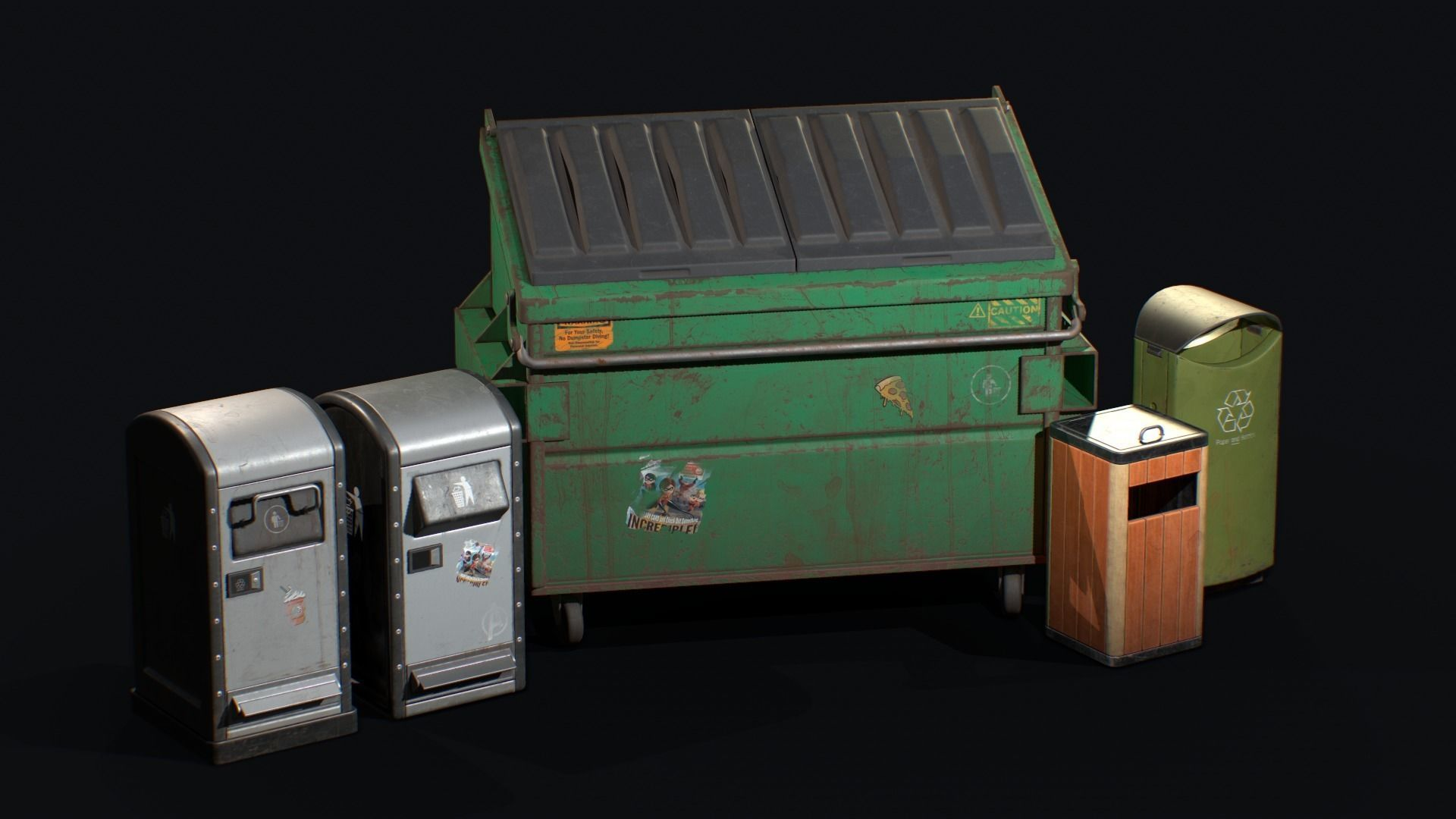 Dustbin and Dumpster