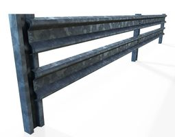 game-ready 3d model armco barrier