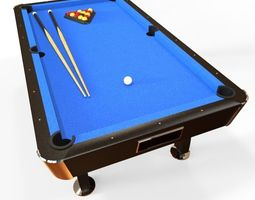 Billiard D Models CGTrader - Revit pool table