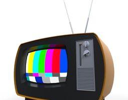 realtime 3d model retro tv