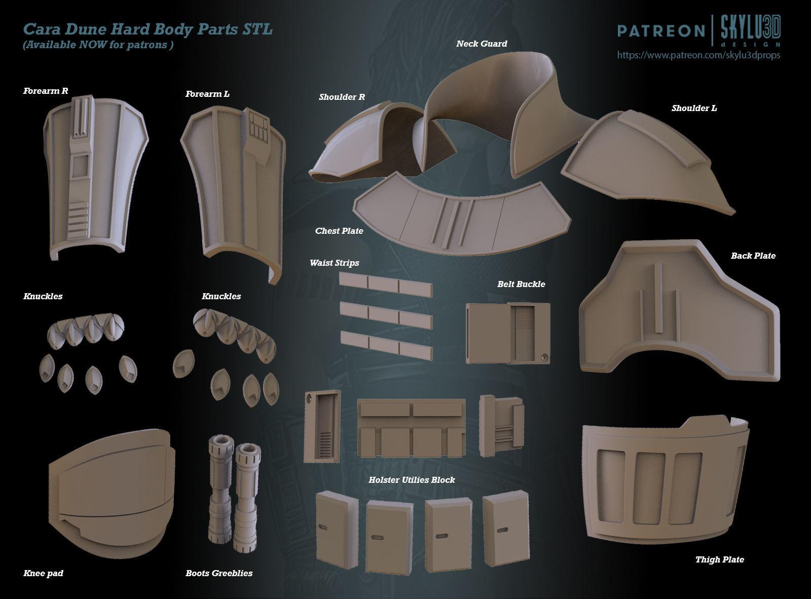 Cara Dune Body Hard Armor Print ready STL
