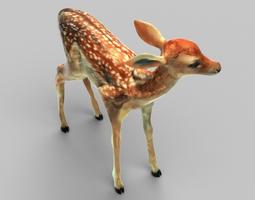 tiny fawn VR / AR ready 3d model
