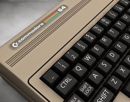 Vintage computer Commodore 64 3D model
