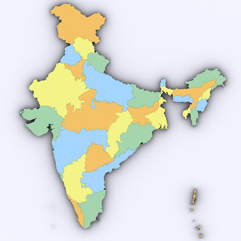 3D model Map of India | CGTrader