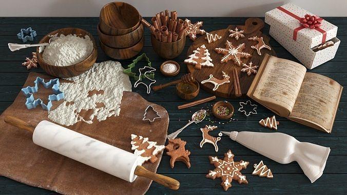 Cooking Christmas Gingerbread Cookies
