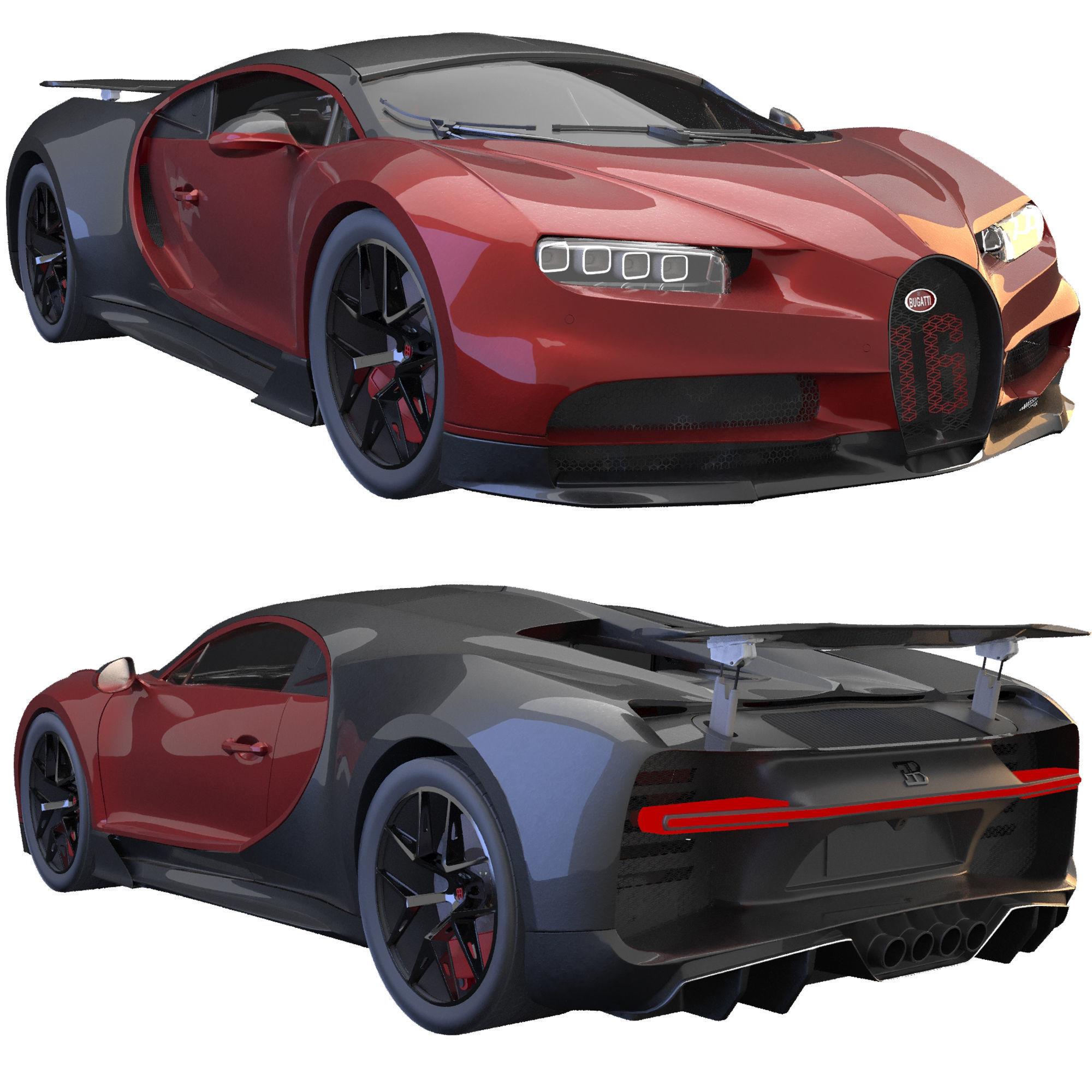 3D Bugatti Chiron sport | CGTrader