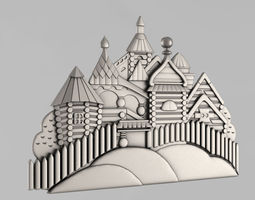3D printable model russia Carved panels
