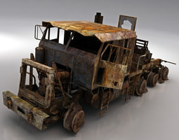 game-ready 3d model army wreck hets