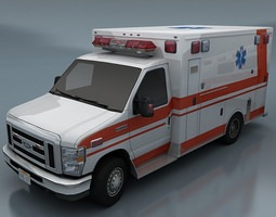 3d model ambulance VR / AR ready