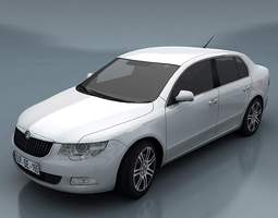 VR / AR ready skoda superb 3d asset