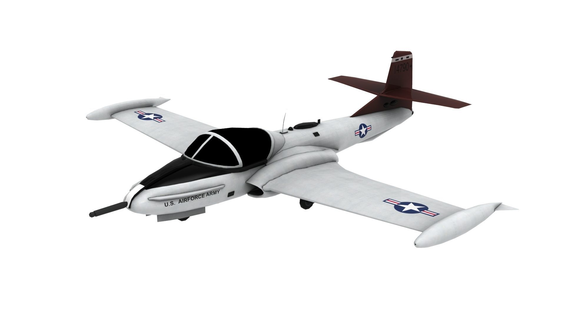Lowpoly A-37 Aircraft Model