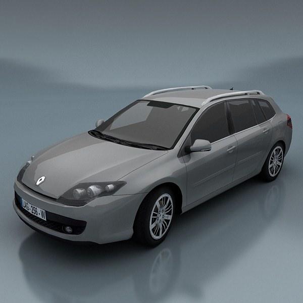 Renault Car Wallpaper: 3D Model Renault Laguna Kombi VR / AR / Low-poly MAX