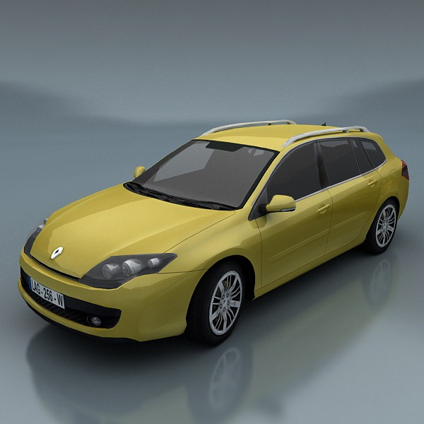 3d model renault laguna kombi vr ar low poly max. Black Bedroom Furniture Sets. Home Design Ideas