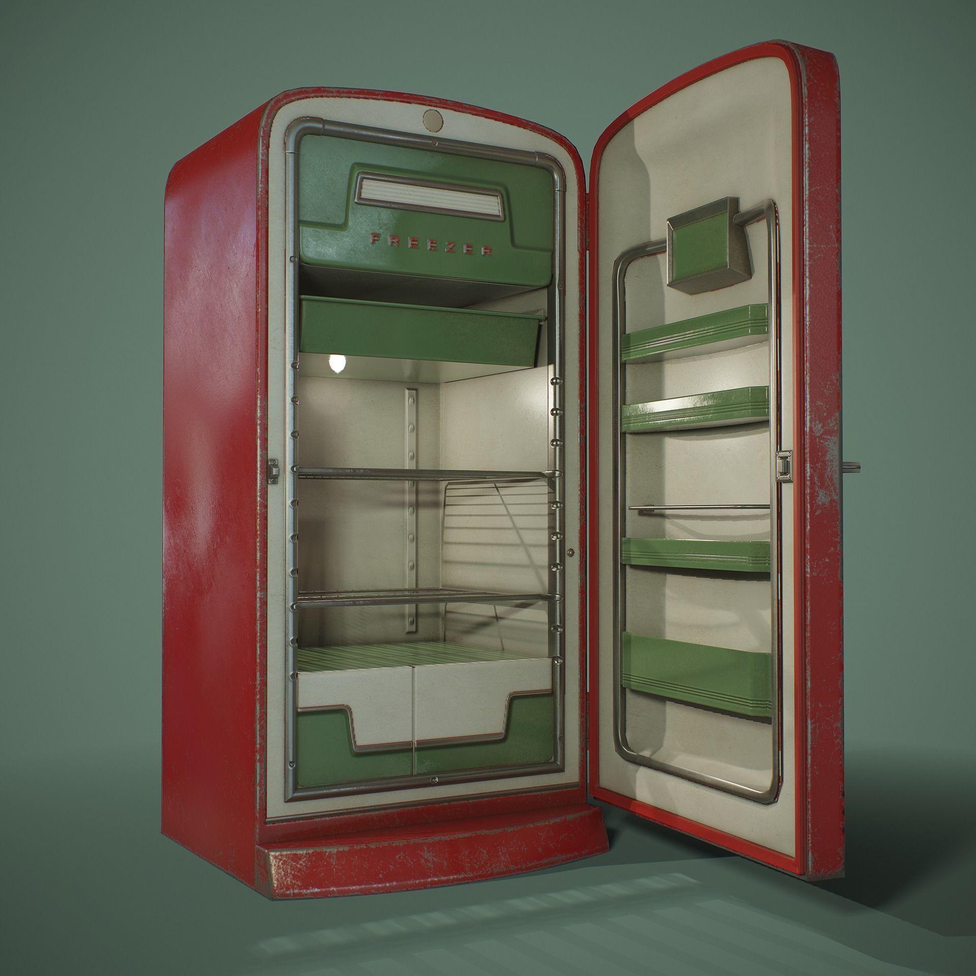 PBR Retro Refrigerator
