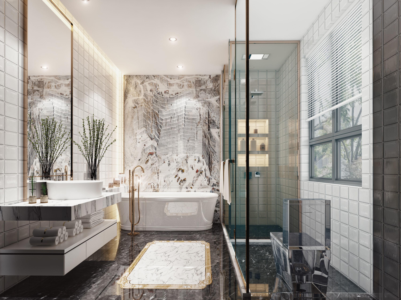 other 3D Luxury bathroom | CGTrader on Model Bathroom  id=79220