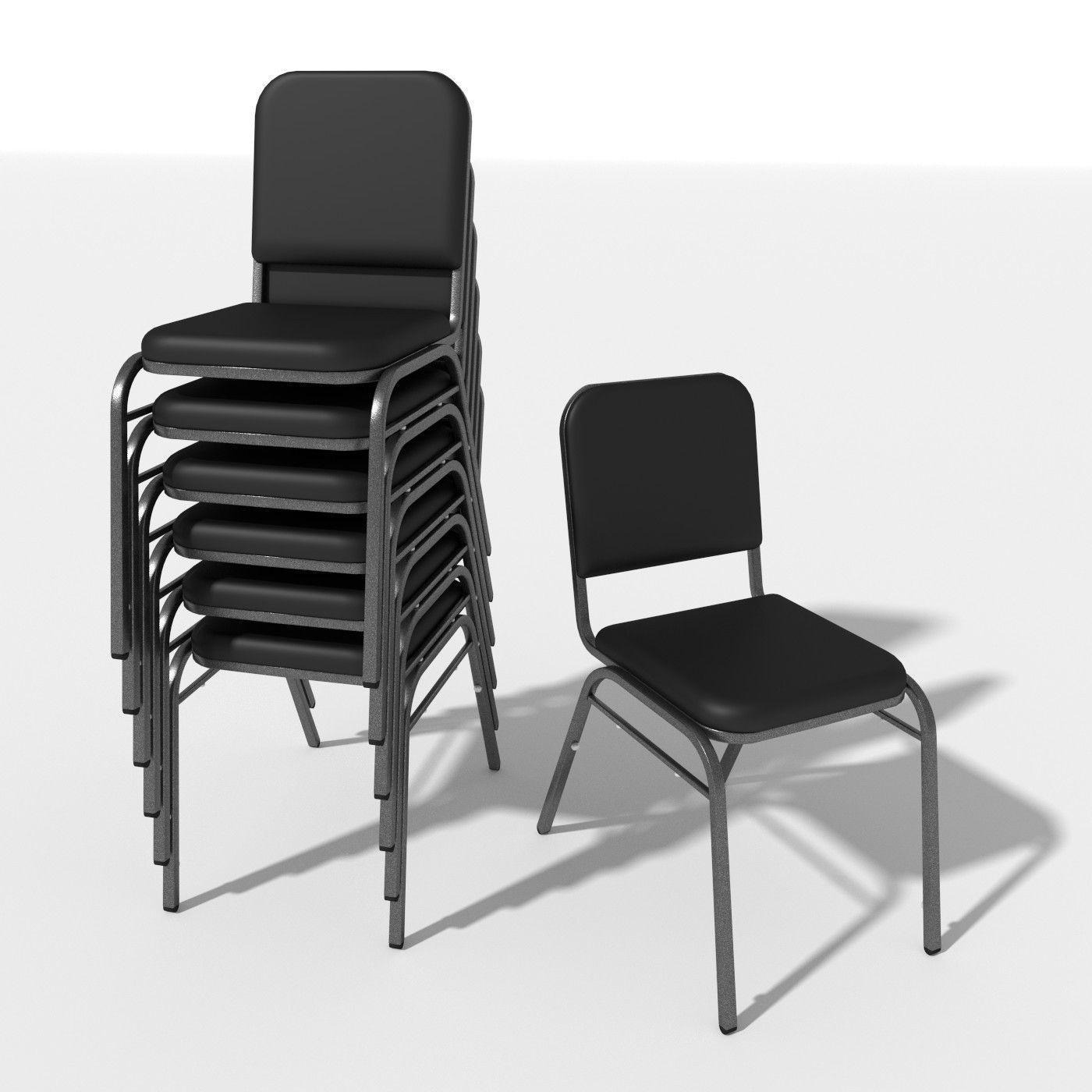 Generic Stacking Chair 3D model